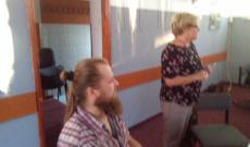 Az ösztöndíjas (Tamás) és az egyesület vezetője (Irén)
