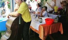 Az oromhegyesi versenyzők asztala.