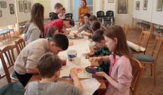 A pozsonypüspöki gyerekek alkotnak