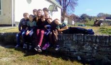 Közös kép a szórványkollégium diákjaival