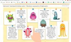 LearningApps: Testrészek és a birtokos személyjel