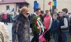 Március 15-i ünnepség Szászrégenben