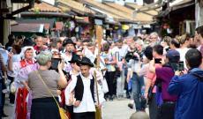 Magyar kulturális flashmob a Bascarsiján