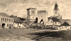 Abrudbánya főtere a pusztítás után