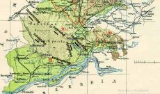 Az egykori telepek elhelyezkedése