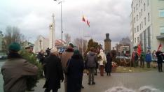 Bem szobor előtt koszorúzás Lengyelország