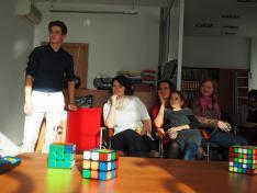 Rubik - kocka bemutató Mogyorósi Hunorral