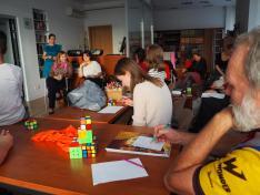 Rubik - kocka bemutató Mogyorósi Hunorral vetélkedő