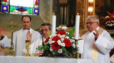 Szöllősi Tibor atya, Sztrikovits János dersi prépost és Franjo Lulić titeli plébános