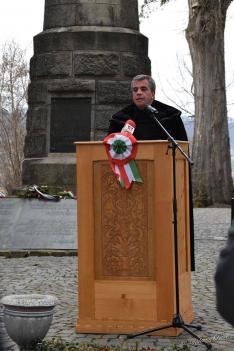 Veress László tiszteletes ünnepi beszéde közben