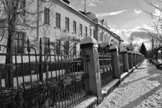 Székelykeresztúri utcakép az unitárius gimnáziummal