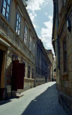 Utcakép Brassó belvárosában