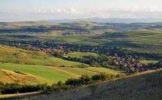 Kalotaszegi táj, a völgyben Méra község