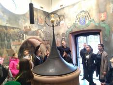 Keresztelőmedence a Dömötör toronyban