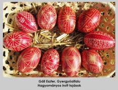 Hagyományos írott tojások