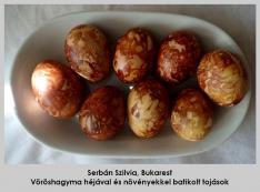 Batikolt tojások