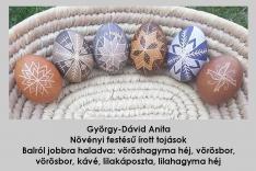 Növényi festésű, írott tojások