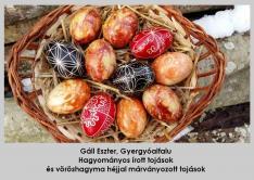 Növényi festésű batikolt és írott tojások