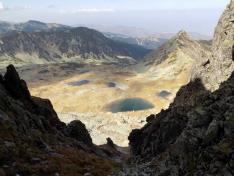 Rosszvölgyi tavak a Papusa csúcsról
