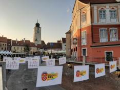 Kispiac tér a Hazugok hídjáról - Nagyszeben
