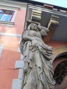 Ernst Weisenfeld Internátus bejárata - Nagyszeben