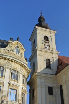 A római katolikus templom tornya - Nagyszeben