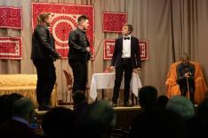 A zsoboki színjátszókör fiataljainak darabja
