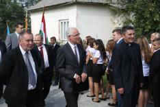 A képen balról: Tóth István, Balog Zoltán, Tóth Jenő