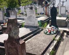 Tokay Vigh Károly 1848-as honvédszázados sírja - a református temetőben