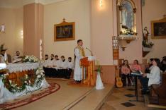 Szentmise a rahói római katolikus templomban