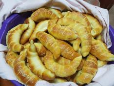 pékkifli sütés a kisoroszi tájházban