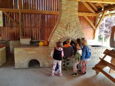óvodások a kisoroszi tájházban