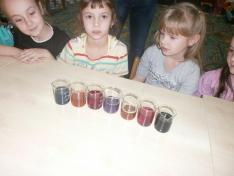 Lila káposzta lé színezése savakkal és lúgokkal