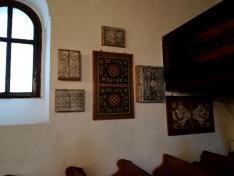 A templomban berendezett kiállítás részlete