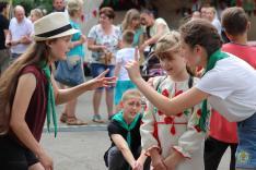A munkácsi cserkészek játékai a fesztivál ifjúságával