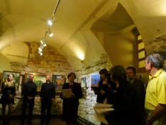 Kelemen Gertrúd, a Magyar Intézet igazgatóasszonya nyitotta meg a kiállítást