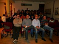 A lelkes közönség várja az előadást