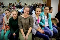 A huszti magyar iskola diákjai