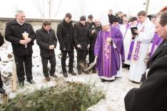 Tamás József püspök, a szentmise főcelebránsa