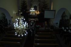 szentmise előtt a templombelső