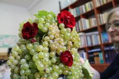 az egyik szőlőkoszorú