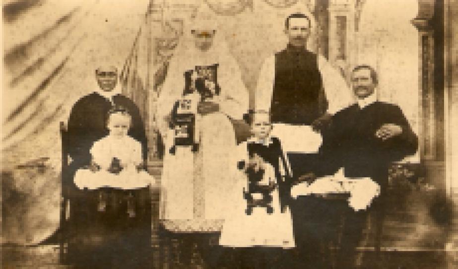 Fogarasi Balázs és családja. 191o-es évek, Halmágy