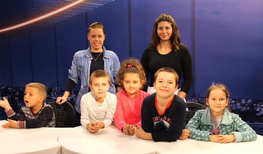 A maradéki magyar tagozatos osztály diákjai az újvidéki Pannon RTV stúdiójában