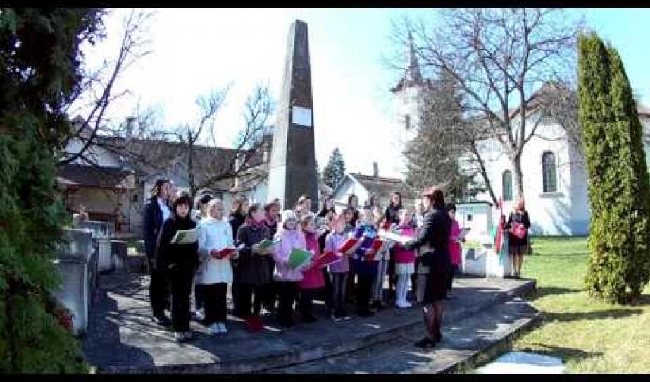 Március 15-i ünnepség - Piski, Dél-Erdély