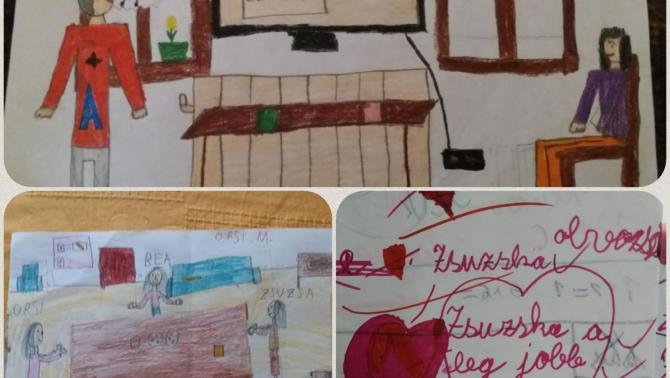 Néhány, tanítványaimtól kapott rajz a tavalyi tanévből
