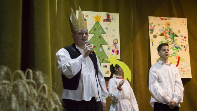 A hertelendyfalvi gyerekek karácsonyi műsora