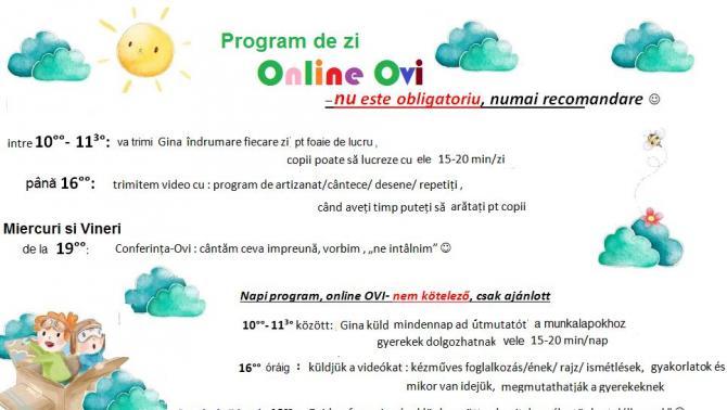 Lészped, online ovi, napi program