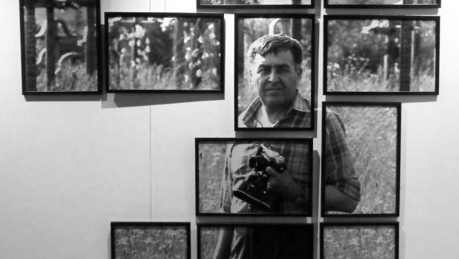"""Fotókollázs a kiállításon: """"Kamerával a kezében"""" - Korniss Péter fotójából"""